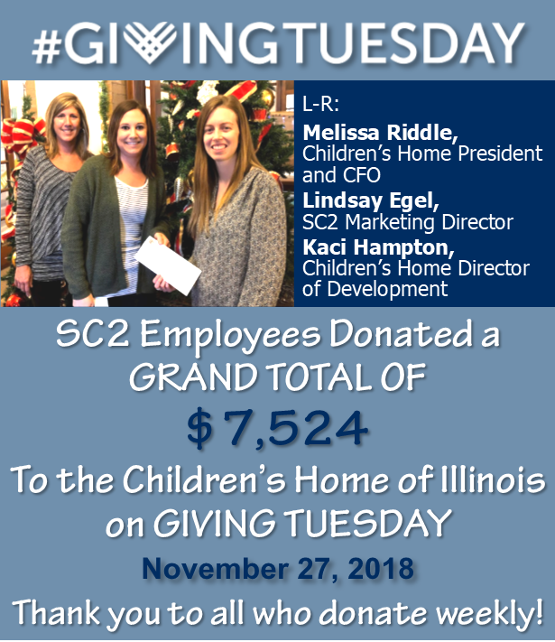 , SC2 EMPLOYEES DONATE TO CHILDREN'S HOME OF ILLINOIS!